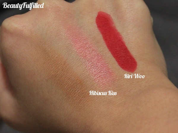 Haul - Riri Loves MAC Fall 2013 Collection Hibiscus Kiss Swatch Riri Woo Swatch 03